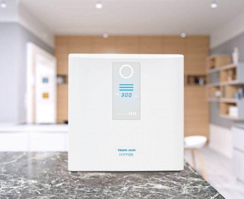 Thiết kế của máy lọc nước Trim Ion Hyper nhỏ gọn, tinh tế nên có thể đặt ở nhiều vị trí trong căn bếp