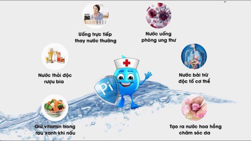 Những lợi ích tuyệt vời mà nước ion kiềm mang lại cho sức khỏe