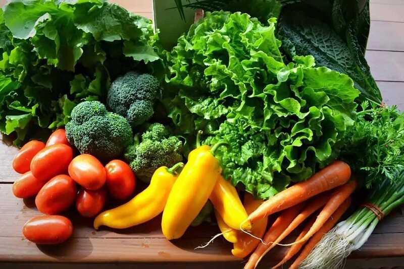 Rau củ quả tươi giúp cân bằng môi trường trong cơ thể ở mức ổn định