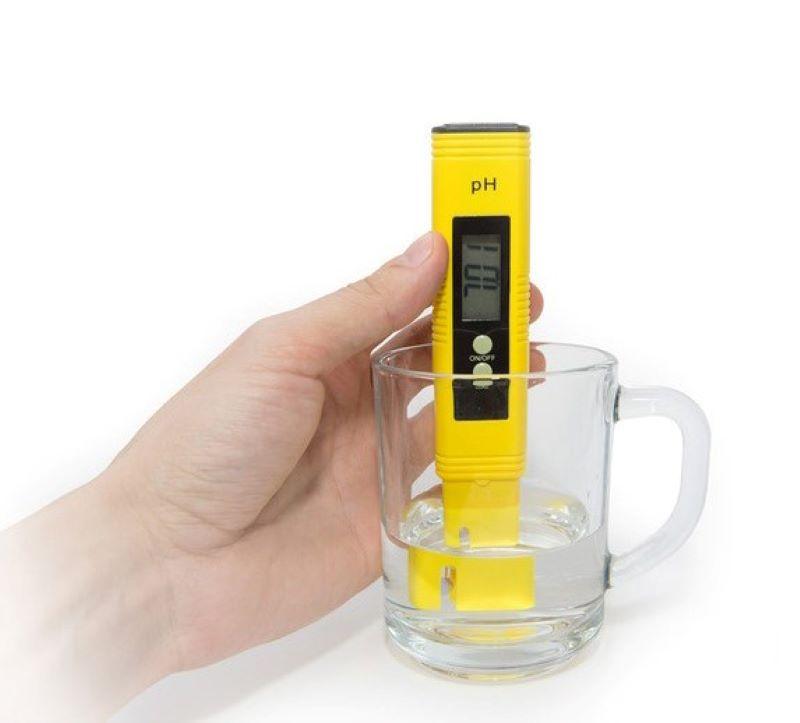 Sử dụng bút đo sẽ cho thấy chính xác chỉ số pH của nước