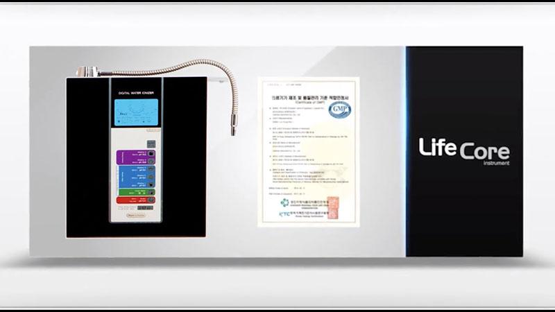 Máy điện giải ion kiềm Lifecore – 7200 tạo ra 8 chế độ nước