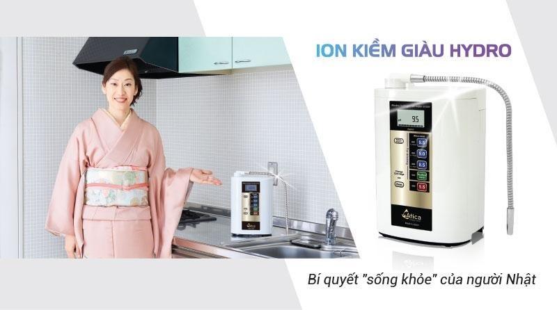 Chiếc máy lọc nước điện giải giúp loại bỏ sạch đến 99.99% tạp chất an toàn cho người sử dụng