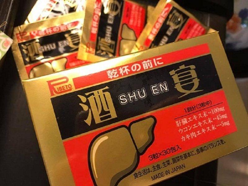 Shuen được bào chế từ các thành phần như nghệ, gan lợn, bột hàu