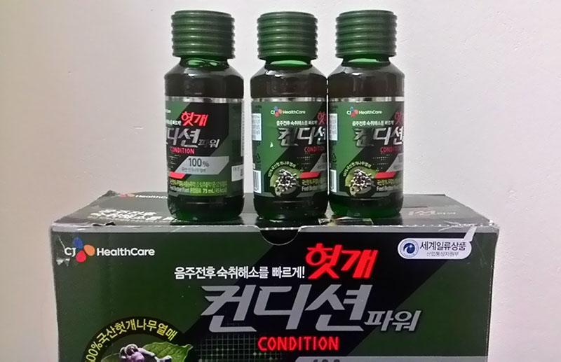 Nước giải rượu Condition dạng chai của Hàn Quốc