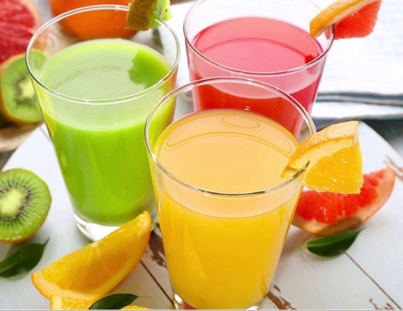Nước ép trái cây có nhiều loại vitamin và khoáng chất tốt cho cơ thể