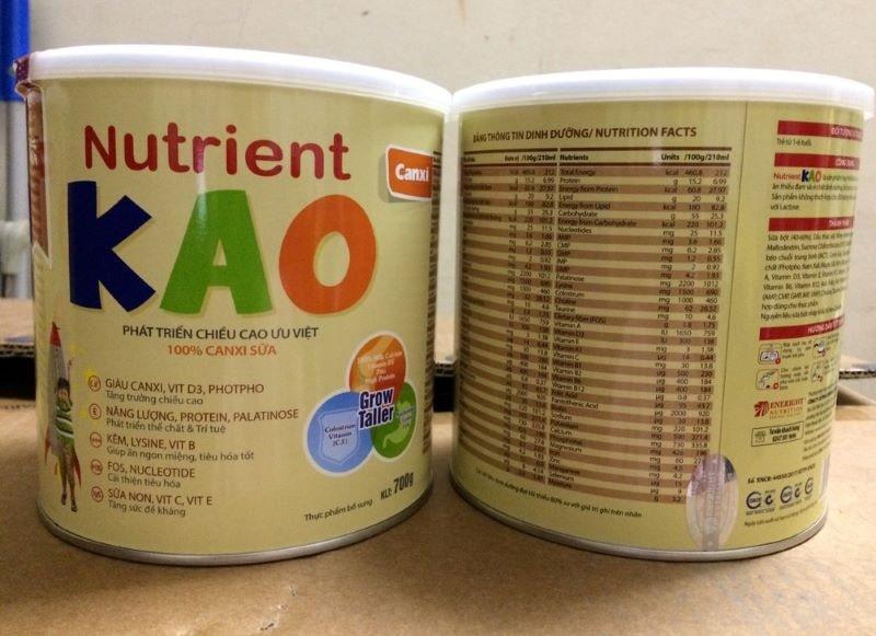 Nutrient Kao- Sản phẩm số 1 cho bé khỏe mạnh