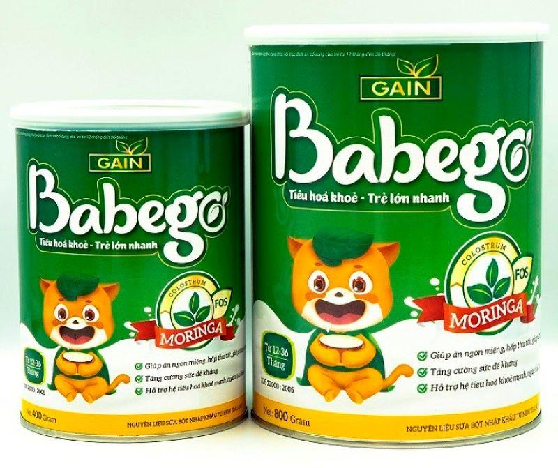 Sữa tăng sức đề kháng cho bé 2 tuổi Babego