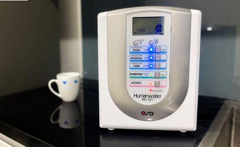 Máy lọc nước ion kiềm OSG là sản phẩm được chứng nhận ISO 14001 về chất lượng và an toàn