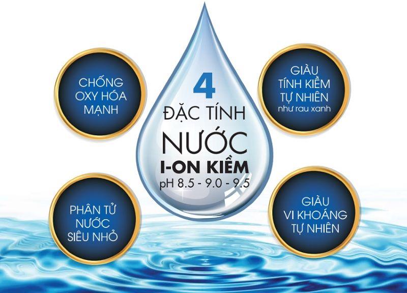 Nước ion kiềm có 4 đặc tính quý giá nổi bật