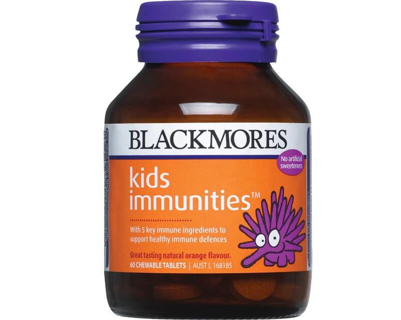 Viên uống có xuất xứ từ thương hiệu Blackmore của Úc được nhiều trẻ yêu thích với hương cam tự nhiên, dễ uống