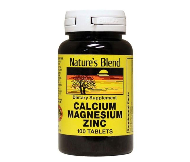 Hình ảnh viên uống bổ sung Magie Nature's Blend Calcium Magnesium Zinc
