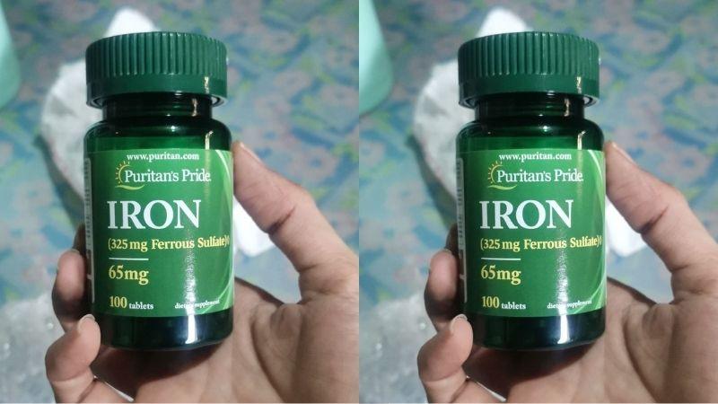 Iron Ferrous Sulfate 65mg bổ sung sắt
